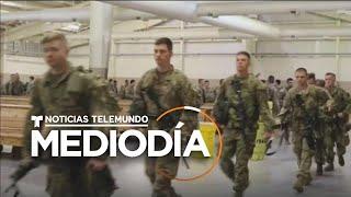 Tranquilidad entre soldados de EE. UU. tras discurso del presidente Trump   Noticias Telemundo