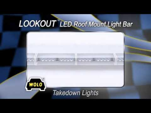 WOLO Lookout LED Lightbar - 88 Blue and Red LEDs, 48in.L, Model# 7915-R