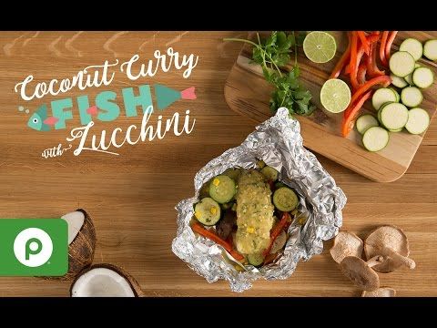 Coconut Curry Fish with Zucchini. A Publix Aprons recipe.