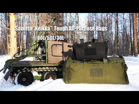3 Day Winter Wilderness Trip With Savotta Duffel Bag / Backpack Combo