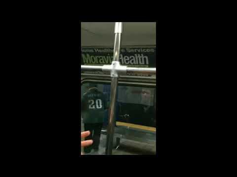 Philadelphia Eagles fan runs into pole on subway