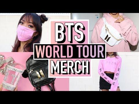 5 DIY BTS (BANGTAN BOYS) WORLD TOUR MERCH! 방탄소년단 | BTS | Nava Rose