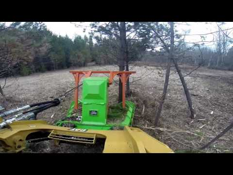 Forestry  Mulcher on a CAT Skid Steer