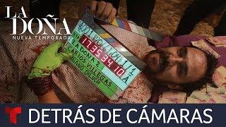La Doña 2 | Detrás de cámaras de la muerte de Mauricio Preciado | Telemundo