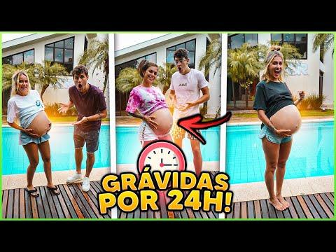 AS MENINAS FICARAM GRÁVIDAS POR 24HRS!! [ REZENDE EVIL ]