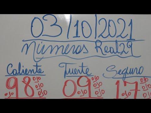 NUMEROS PARA HOY 03/10/2021 DE OCTUBRE PARA TODAS LAS LOTERÍAS