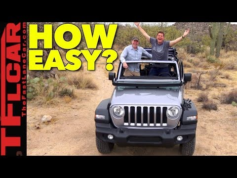 It Takes HOW LONG To Fold The Windshield on the 2018 Jeep Wrangler??