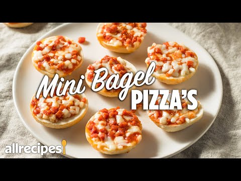 How to Make Easy Mini Bagel Pizzas #WithMe | At Home Recipes | Allrecipes.com