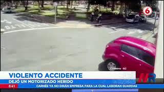 Violento accidente en Palmares dejó un herido