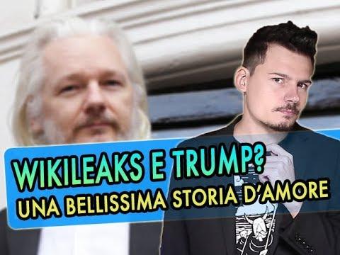 Donald Trump Jr e Assange di Wikileaks: una storia d'amore nel nome della trasparenza