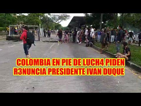 COLOMBIANOS PIDEN LA R3NUNCIA DEL PRESIDENTE IVAN DUQUE POR M4SACRAR AL PUEBLO MÁS DE 20 F4LLECIDOS.