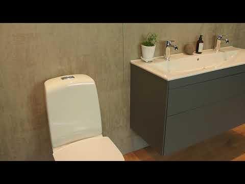 Så fyller du på med Fresh WC på din Ifö Spira och stänger spolknappen efteråt