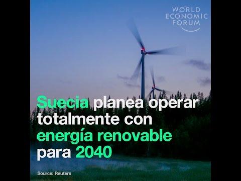 Suecia planea operar totalmente con energía renovable para 2040