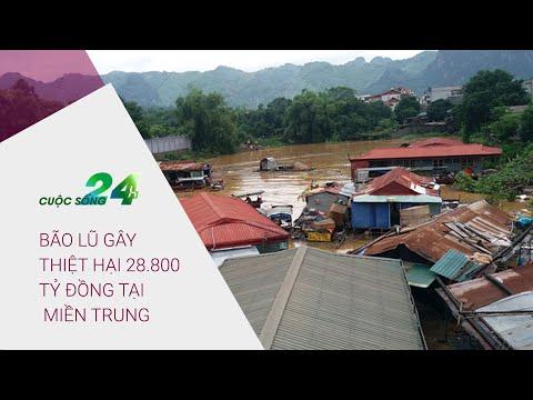 Cuộc sống 24h 9/11/2020: Bão lũ gây thiệt hại 28.800 tỷ đồng tại miền Trung   VTC Now