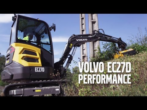 Volvo EC27D minigrävare - Performance från Swecon