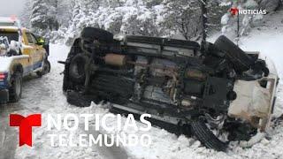 Una potente tormenta de nieve azota la Costa Oeste y cruzará el país   Noticias Telemundo
