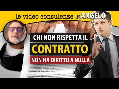 Chi non rispetta il contratto non ha diritto a nulla | avv. Angelo Greco