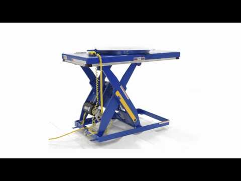 EHLT-ROTATE Electric Hydraulic Scissor Lift Table Manual Built-In Carousel for Scissor Tables