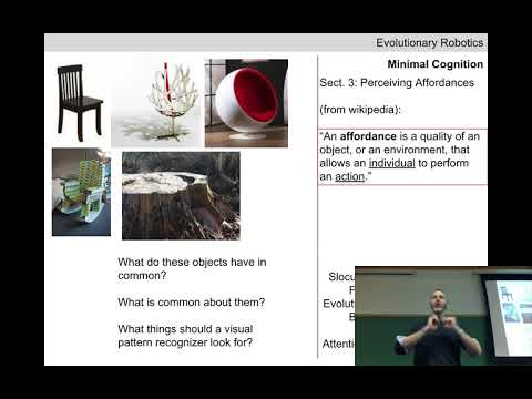 Evolutionary robotics Lecture 09: Minimal cognition. (Recorded Feb 13, 2018)