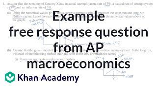 Example free response question from AP macroeconomics | AP? Macroeconomics | Khan Academy