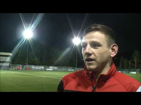 Goal scorer Boundford reacts to Aber draw