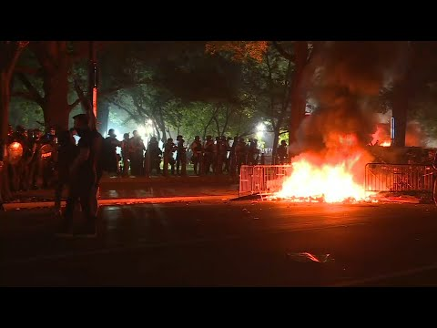US protesters light fires near White House | AFP