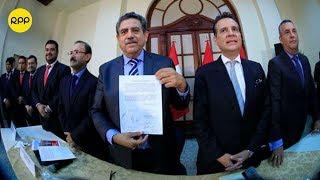 Bancadas firmaron Acuerdo por la Gobernabilidad