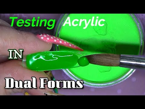 Testing Brand New Acrylic Inside Dual Forms By ModelOnes | Weird Things Happen Too! | ABSOLUTE NAILS