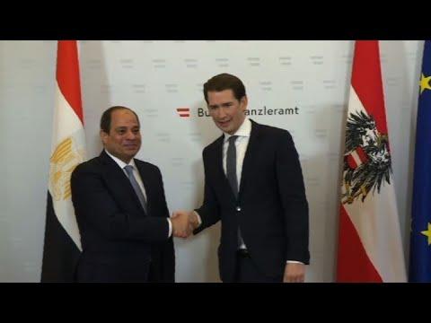 Egyptian president starts official visit in Austria
