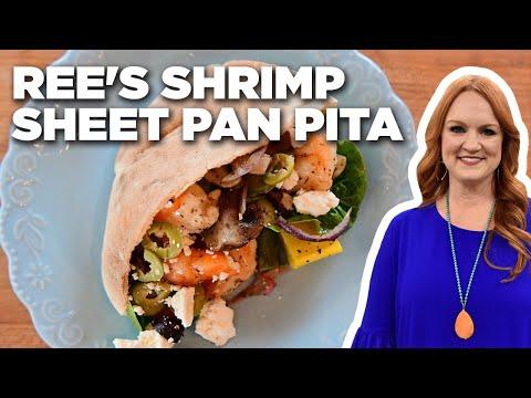 Ree Drummonds Shrimp Sheet Pan Pita  The Pioneer Woman  Food Network