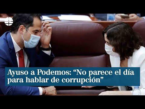 """Ayuso: """"No parece el día para hablar de corrupción con su líder a las puertas del banquillo"""""""