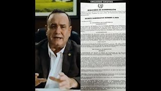 Presidente Giammattei  decreta 'Estado de Prevención' en Escuintla