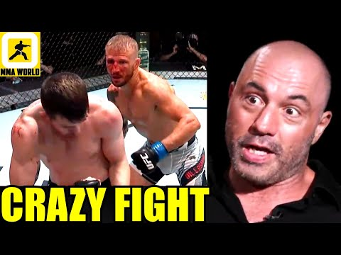 MMA Community Reacts to the INSANE 5 ROUND WAR between TJ Dillashaw and Cory Sandhagen,UFC Vegas 32