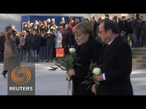 French, German leaders visit site of Berlin attack