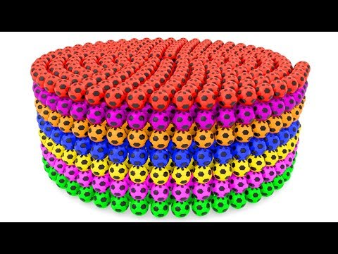 connectYoutube - Learning Colors With 3D Soccer Balls Spiral For Kids for Children Toddlers and Babies