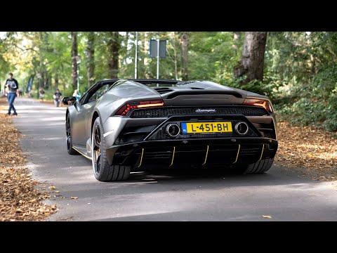 Lamborghini Huracan EVO with Akrapovic Exhaust - LOUD Revs & Accelerations