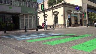 Comunidad LGBTTTI utiliza paso peatonal como símbolo para visibilizarse.