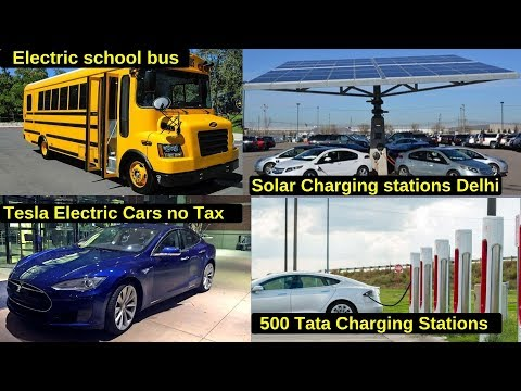 Electric Vehicles News 18: Electric School Bus, Delhi Solar Charging Stations, No Tesla Tax