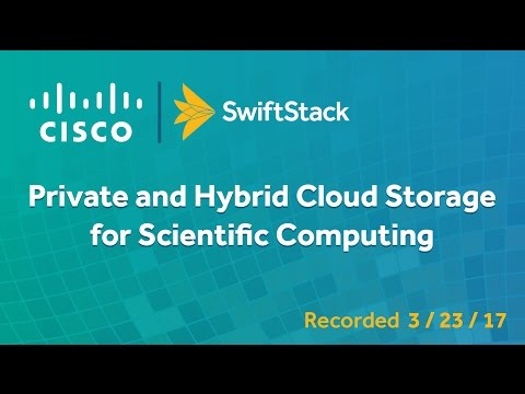 Private and Hybrid Cloud Storage for Scientific Computing