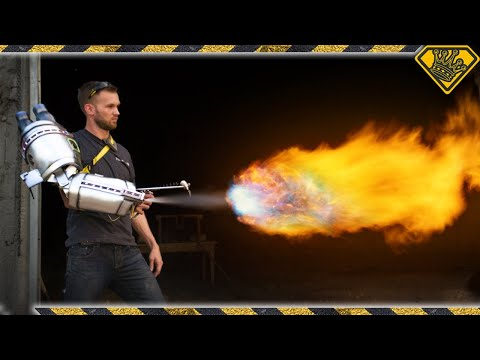 The Arm-Mounted Taser Flame Thrower