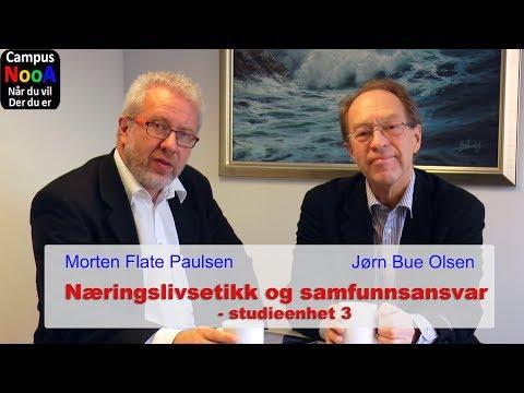 Studieenhet 3 i kurset Næringslivsetikk og samfunnsansvar. Morten Flate Paulsen og Jørn Bue Olsen