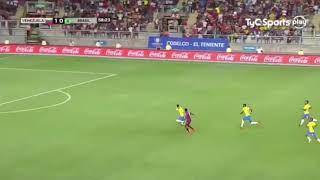 تعليق ظريف لمعلق مباراة منتخب البرازيل وفنزويلا
