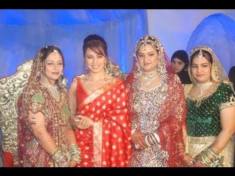 Mugdha Godse And Mahima Chaudary At A Grand Wedding Reception