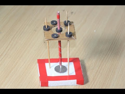 Science Experiments - standing spinning pencil with Magnet