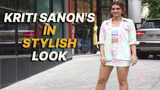 Kriti Sanon Spotted Outside Maddock Office in stylish look At Santacruz - IANSINDIA