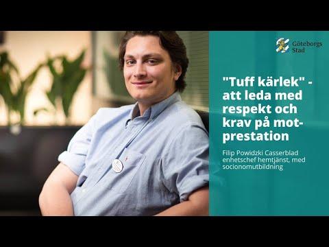 """Filip Powidzki Casserblad, enhetschef hemtjänst, med socionomutbildning berättar: """"Tuff kärlek"""" - at"""