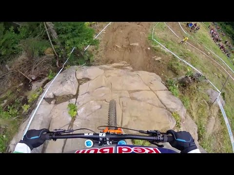 Rachel Atherton's DH MTB Title Winning Run: GoPro View | UCI MTB World Cup 2016
