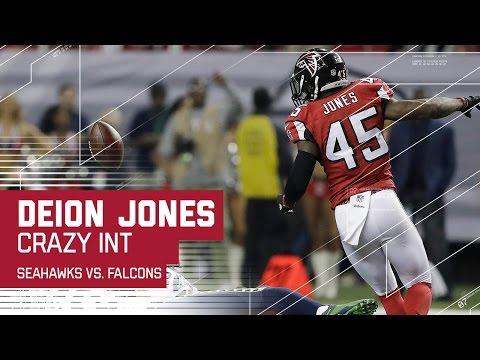 Crazy Deflection Interception for Deion Jones! | Seahawks vs. Falcons | NFL Divisional Highlights