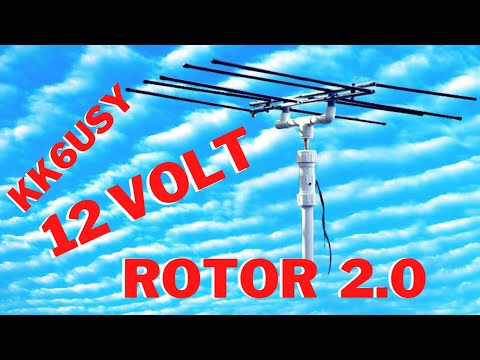 12 volt Rotor 2 0 for small light weight yagi/hexbeam antennas and portable use.
