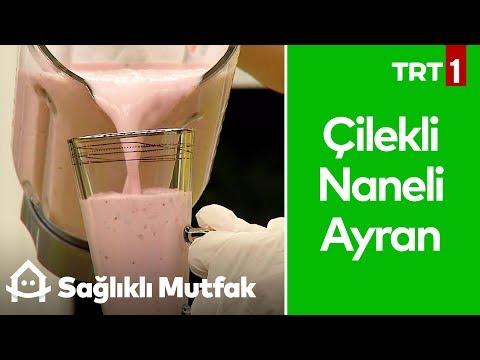 Çilekli ve Naneli Ayran Yapımı - Sağlıklı Mutfak 40. Bölüm